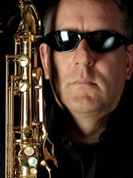 Saxophonist photo shoot