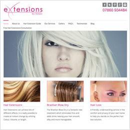 Hair Extensions web site built by Metech
