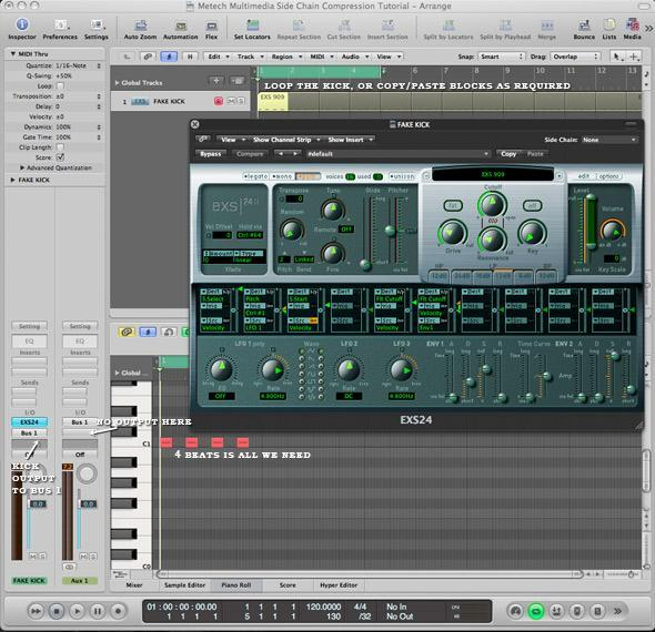 Step 1 in adding side chain compression to a lead sound