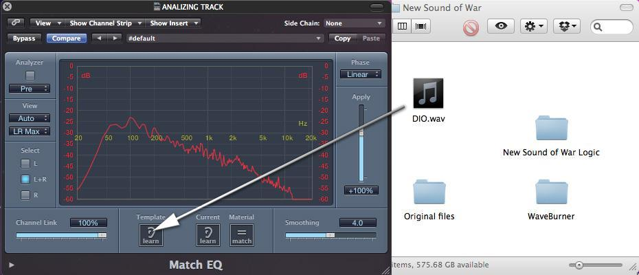 Mastering in Logic Pro Audio with Match Eq