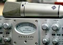 Avalon Compressor with Neumann U87 Mic