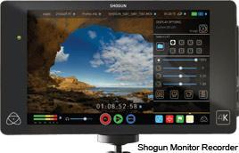 Shogun Monitor Recorder used at Metech for Commercial video recordings
